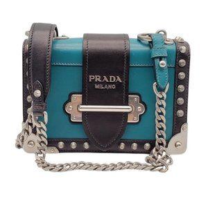 Authentic Prada Cahier Leather Shoulder Bag